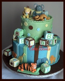 Baby Animal Baby Shower Cake