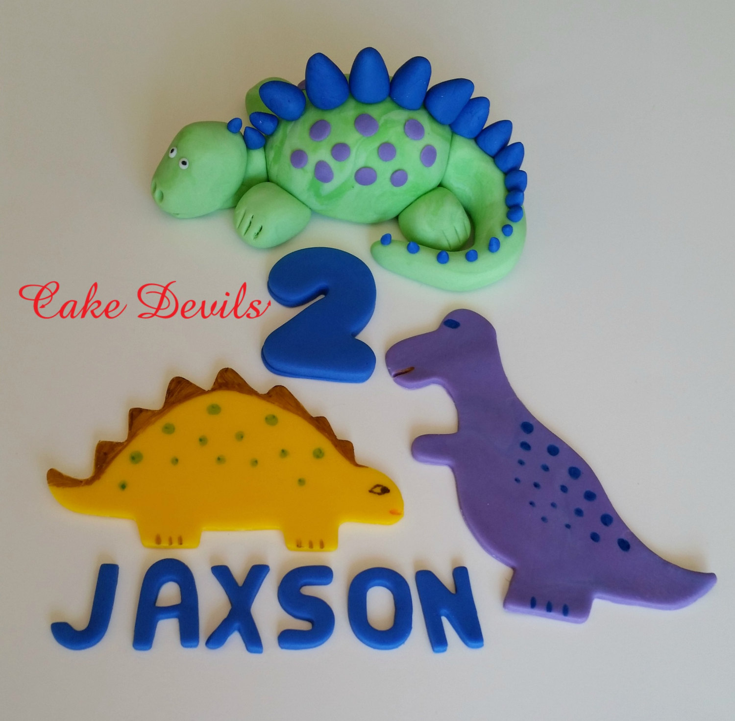 Dinosaur Cake kit Birthday Cake Decorations handmade edible