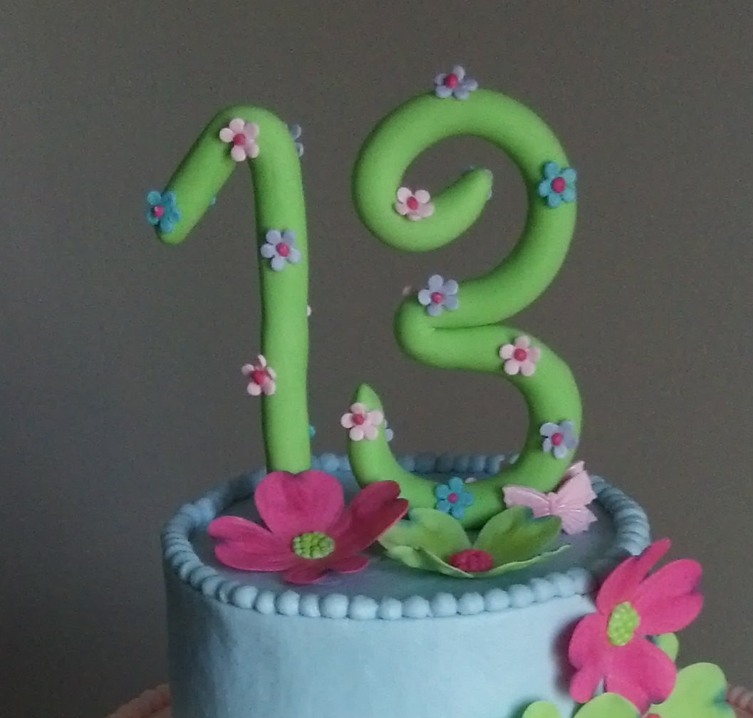 Handmade fondant number cake topper birthday cake for Number 3 decorations