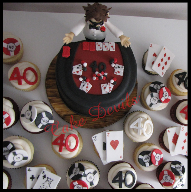 Edible Cake Images Nj : Casino Cupcake Toppers, Handmade edible, Fondant, Casino ...