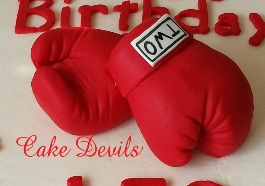 Boxing Gloves Cake Topper Fondant Boxing Gloves Cake Decorations Stunning Boxing Party Decorations