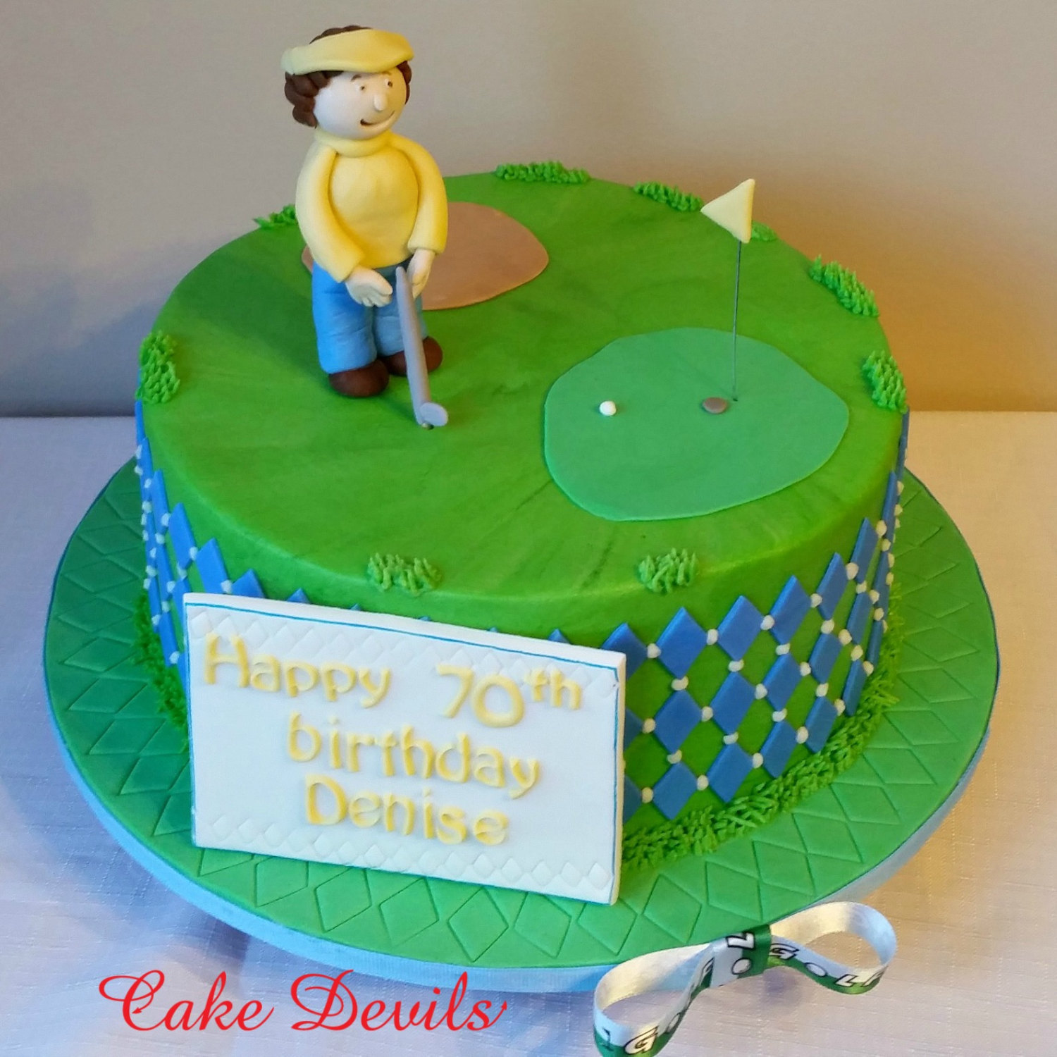 Edible Cake Images Nj : Fondant Golf Cake Topper Kit - Golf Cake Decorations ...