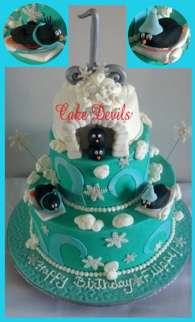 Edible Cake Images Nj : Fondant Penguin, Penguin Cake Topper, Penguin Cake ...