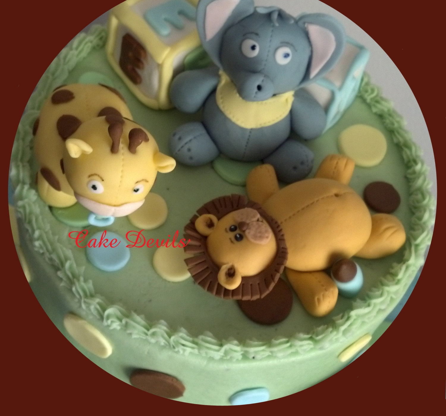Fondant Lion Lion Cake Topper Lion Cake Decorations