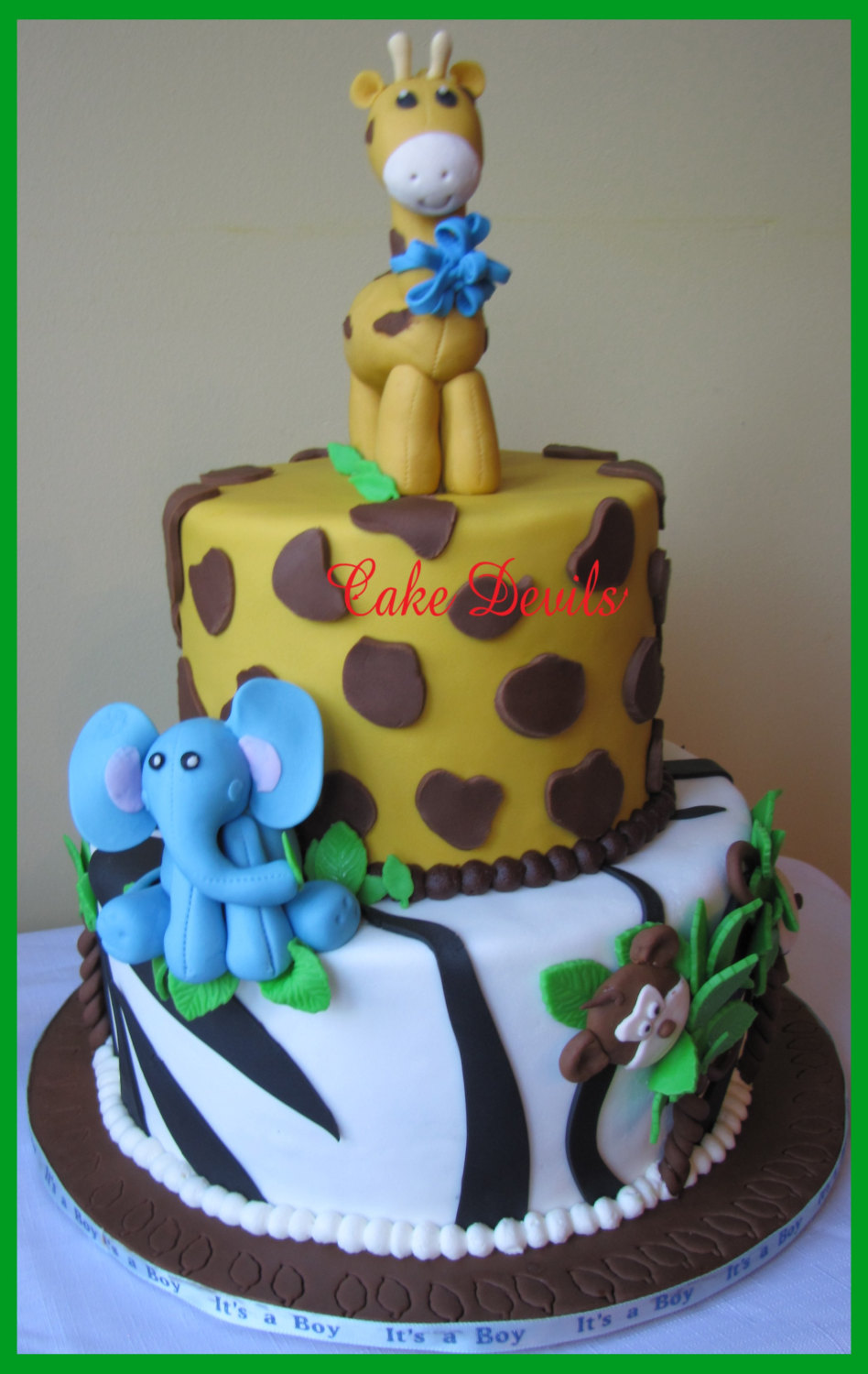 Fondant elephant elephant cake topper elephant cake for Animal cake decoration