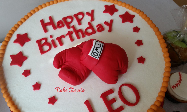Boxing Gloves Cake Topper Fondant Boxing Gloves Cake Decorations